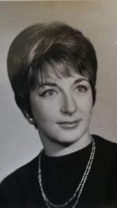 Amelia Díaz Andreu en los años 60.
