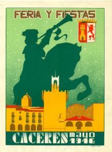 Cartel de las Ferias de Mayo, en honor a San Fernando, correspondiente al año 1.945