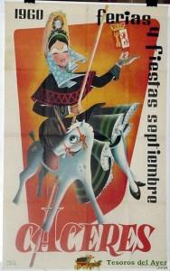 CARTEL FERIA SAN MIGUEL CACERES 1960