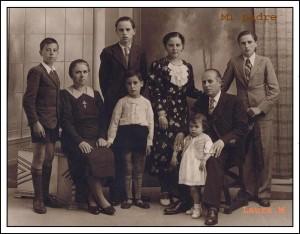 ELEUTERIO MENDOZA YFAMILIA EN 1940