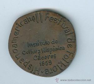 medalla ii festival folklorico caceres