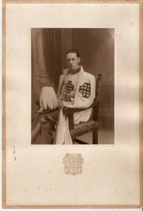 conde de canilleros con el habito de caballero del santo sepulcro 1924