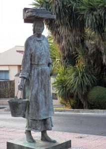 lavandera estatua