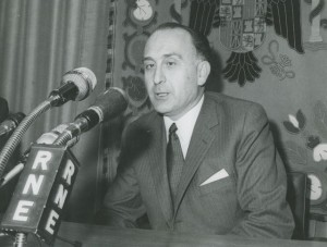 El Ministro de Trabajo, Licinio de la Fuente, en una rueda de prensa