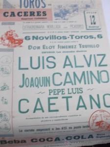 LUIS ALVIZ CARTEL TOROS CACERES