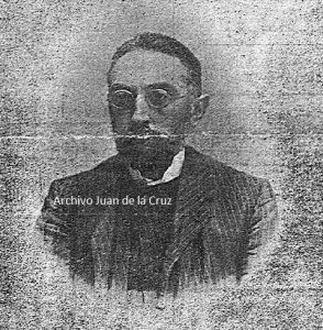 """Miguel de Unamuno, fotografía aparecida en el periódico """"El Noticiero"""", de Cáceres, en los días de su visita a la ciudad,"""