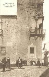 El Palacio de Godoy, Casino y Círculo de la Concordia, en el año 1910.
