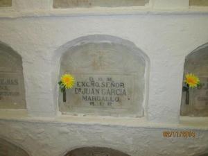 general margallo. lapida cementerio melilla