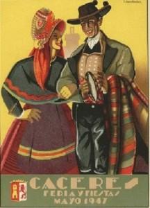 cartel feria caceres 1947