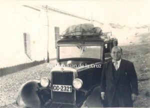 SAAVEDRA, UN POPULAR TAXISTA DEL CACERES DE AQUELLOS TIEMPOS