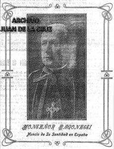 Monseñor Ragonessi, días antes de visitar Cáceres en 1915.