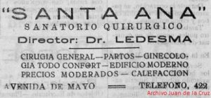 DE LA AVENIDA DE MAYO A LA AVENIDA DE LA MONTAÑA, (1936)