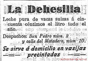 Vaquería La Dehesilla, en San Pedro, 9, y en calle del Matadero, 10.