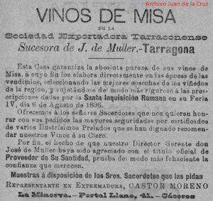 """CASTOR MORENO, DE REPRESENTANTE DE VINOS DE MISA A PROPIETARIO DE """"LA MINERVA"""""""
