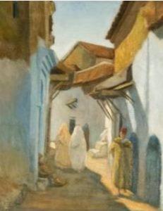 Xuaen, un fascinante lugar de Marruecos, en una estampa de José Luis Turina.