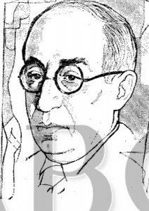 Arsenio Gállego, en dibujo aparecido en ABC, en 1973, obra de José Cañizares.