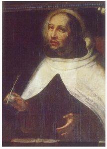 Retrato, anónimo, de San Juan de la Cruz. Carmelitas Descalzas de Granada. Escuela Española de fines del XVII.
