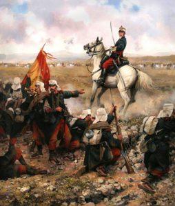 """La Guerra de Margallo"", cuadro de Augusto Ferrer Dalmau."