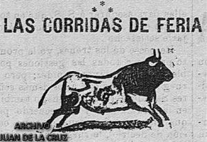 """Bajo este curioso dibujo se podían leer las deliciosas crónicas taurinas de Eusebio Rodríguez Bañales en """"El Bloque""""."""