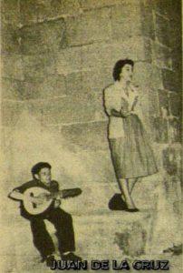 Juan Mellado y Lali Soldevila en  San Mateo, 1955.