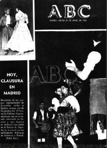 LOS FESTIVALES FOLKLORICOS HISPANOAMERICANOS EN LA PORTADA DE ABC (1961)