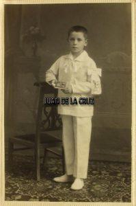 Primera Comunión, Cáceres, años 20. Fotografía de Javier.
