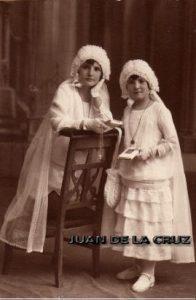Fotografía de Primera Comunión, de Javier, en 1928.