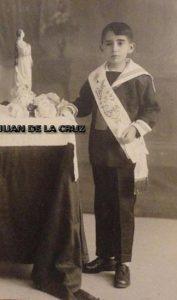 Niño de Primera Comunión, por Javier, en 1928.