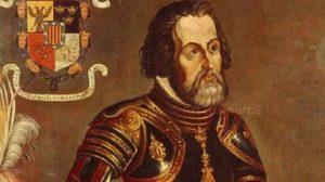 Diego de Velázquez y Cuéllar, gobernador de Cuba.