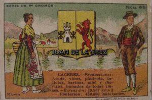 TRAJE TIPICO DE CACERES (FABRICA CHOCOLATE EL BALON, 1920)