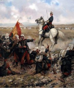 """La Guerra de Margallo"", cuadro pintado por Augusto Ferrer Dalmau."