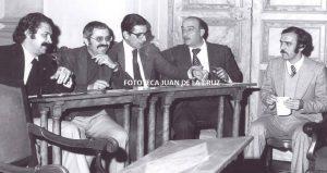 José María Parra en un pleno del Ayuntamiento de Cáceres.