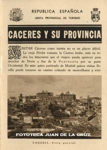 FOLLETO TURISTICO DE CACERES DURANTE LA II REPUBLICA