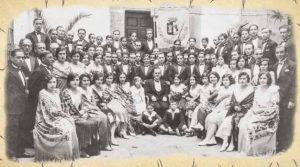 Masa Coral Cacereña, en 1928. Archivo de Petri Serrano Luengo.