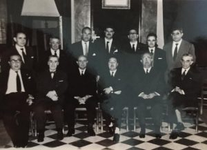 Casto Gómez Clemente junto a Luis Ordóñez Claros, Juan Pablos Abril, Clemente Sánchez Torres , Juan Muñoz Sobrado Florencio García Carrasco...