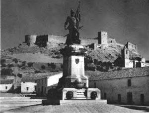 Estatua de Hernán Cortés, en Medellín.