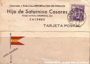 COLONIALES Y EMBUTIDOS. HIJOS DE SATURNINO CASARES (CACERES, 1944)