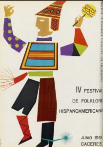 IV FESTIVAL FOLKLORICO HISPANOAMERICANO EN CACERES (1961)