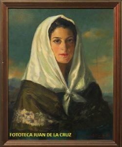 """""""Mujer con pañuelo blanco"""", de Solís Avila."""