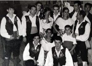 De pie: A la izquierda, José Romero, Carlos León, Antonio Ojalvo, José y Luis Luengo. Agachados: Julián Arnelas y Manuel Acedo. 1963.