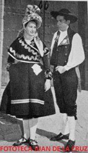 Tola Burgos y Andrés Ortega. Años 50.