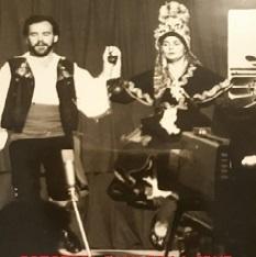 Leo Bernáldez y Mamen Vioque. Jaca, 1977
