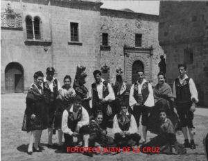 1963: Vicenta Pulido, Germán Morgado, Concepción Ciborro, Pepi Suárez, Manuel Acedo. Agachados: Daniel, Felipe Oliva...
