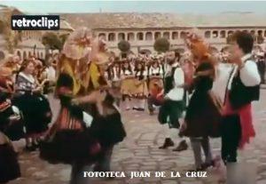 En el Festival de Folklore de los Pirineos. Jaca, 1977