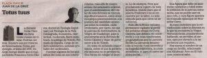 """Artículo """"Totus tuus"""", publicado en el periódico """"Hoy"""" (01.X.2021)"""
